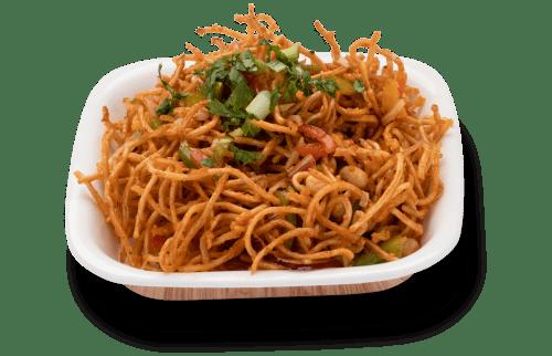 Crunching Chinese bhel