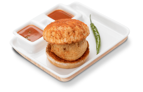tasteful garlic butter vada pav