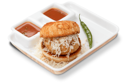 tasty garlic cheese vada pav