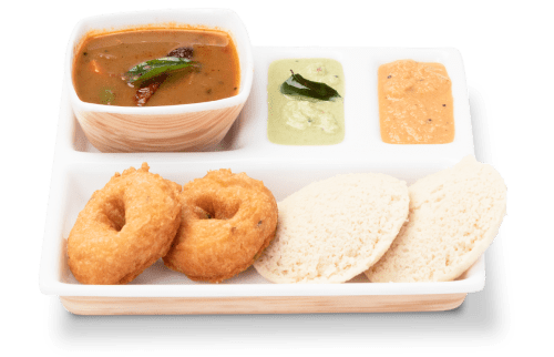 Combination of Idly and Vada - Idly Vada Platter