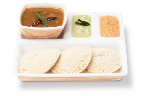 Idly Sambhar with chutney
