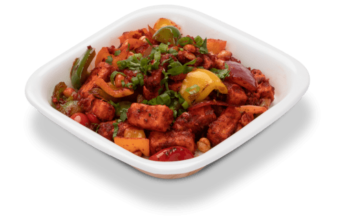 tasty and nutty Kung pao paneer