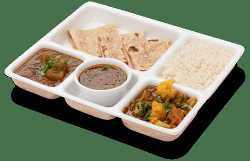Tasty Gujarati thali