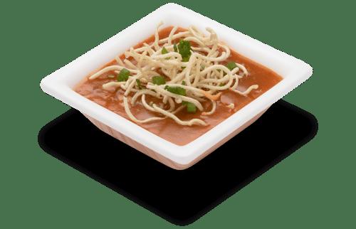 Spicy soup with crispy noodles - Monchow Soup