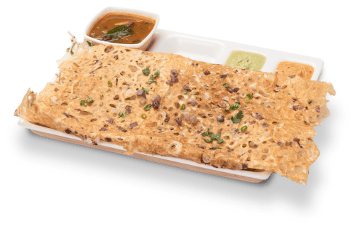 Delicious onion rawa dosa