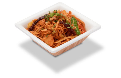 Combination of Sweet and spicy singapore noodles