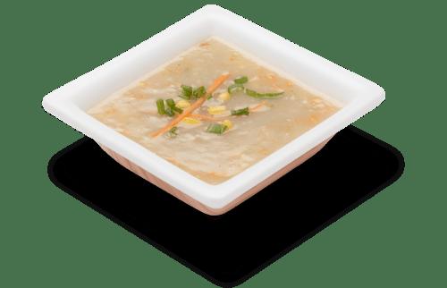 Appetizing sweet corn soup