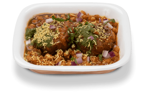 The spicy potato croquettes - Tikki Chole