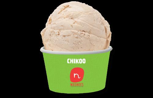 Tempting chikoo icecream