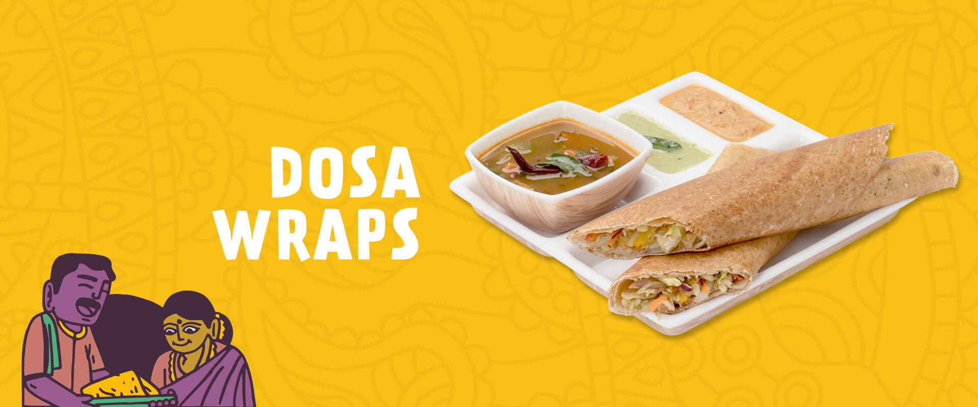 Dosa Wrap menu at Neehee's