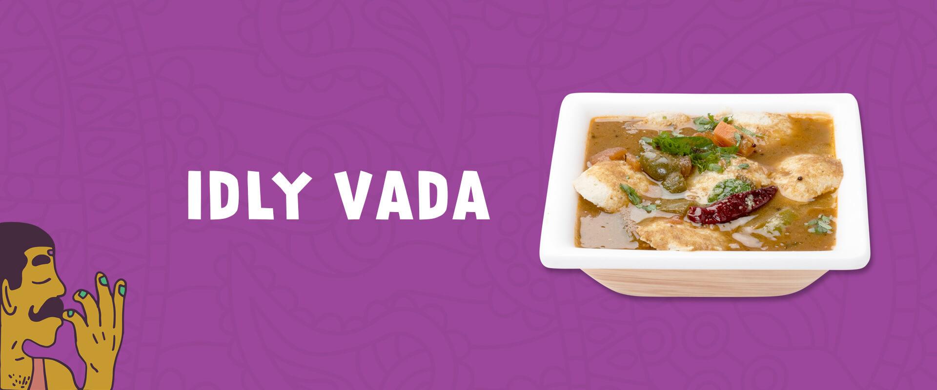 Classic idly vada sambhar with chutney