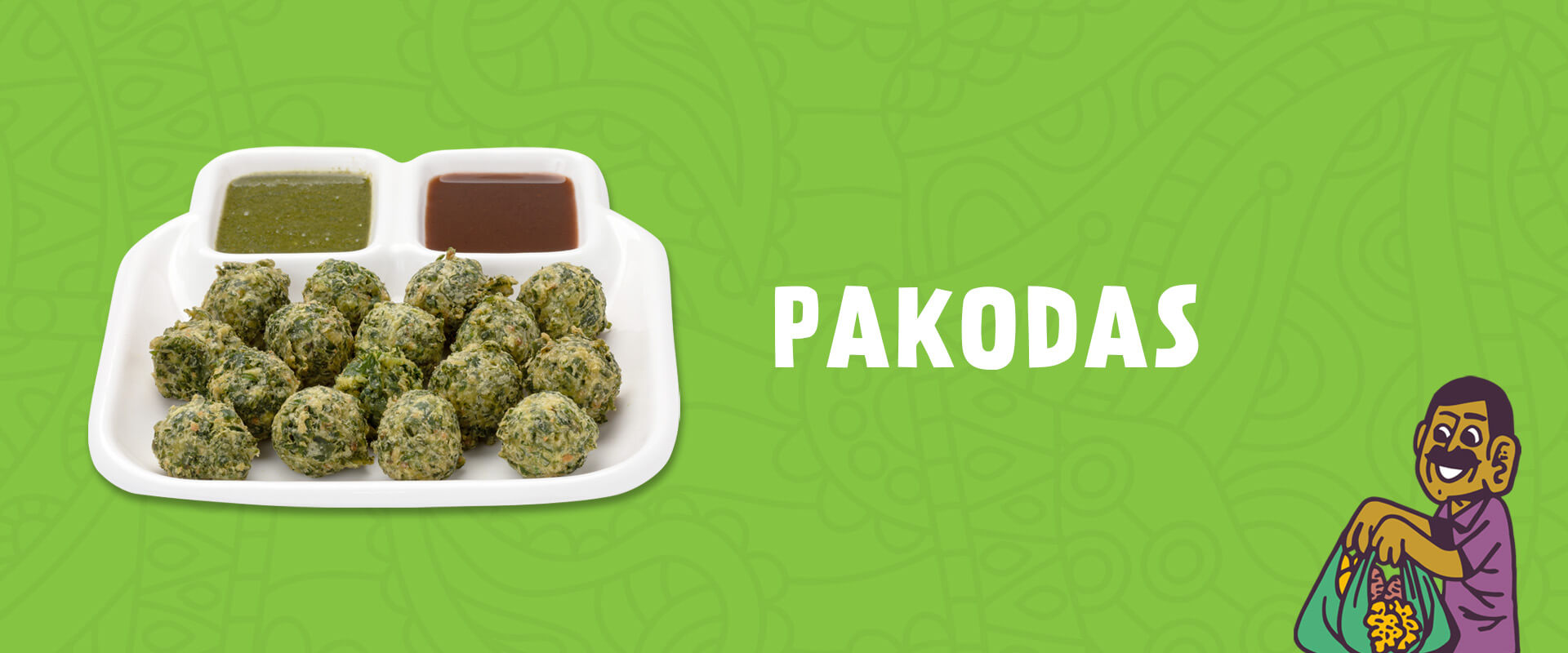 Crispy Pakodas (vegetable fritters)