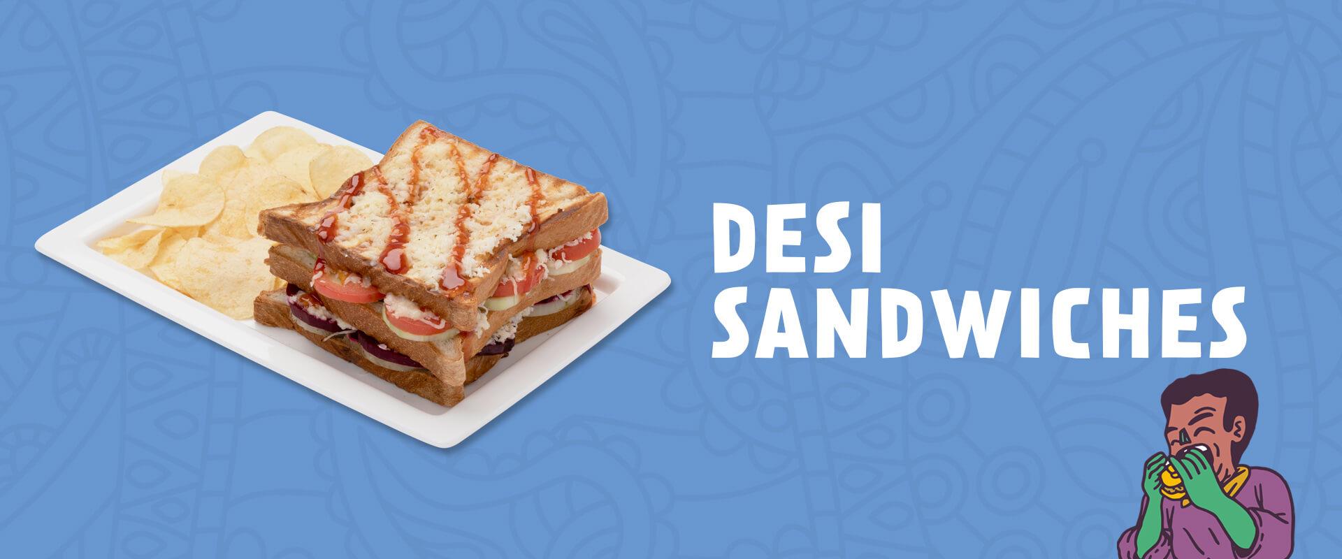 Desi Sandwiches menu at Neehee's